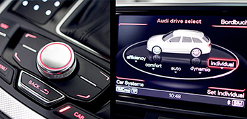 Control with vehicle integrated buttons
