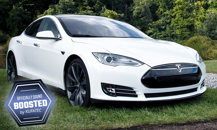 Tesla S P90D with KUFATEC Sound Booster Pro engine sound and exhaust sound